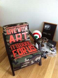 CAMOUFLAGE ARMCHAIR
