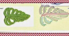 Amor por Art em Crochê: Folhas de Crochê com Gráfico