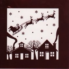 Christmas card - Sleigh silhouette
