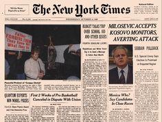 Nobel Newspaper Articles - New York Times, 14 Oct 98
