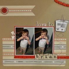 Layout: Love to Floss  nice use of PP accents