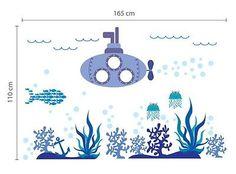 """Under Water World"" Ocean Wall Sticker Kids Bedroom PlayRoom Nursery Mural XXL"