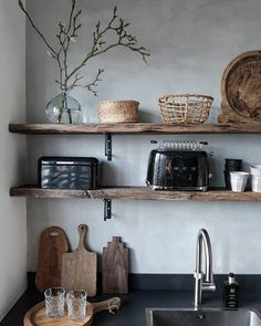 Real home: an open plan kitchen extension with industrial touches Lisa Noble and. Real home: an open plan kitchen extension with industrial touches Lisa Noble and Alex Bramwell extended to create a styl. Diy Kitchen Storage, Kitchen Shelves, Home Decor Kitchen, Interior Design Kitchen, Kitchen Ideas, Cabinet Storage, Pantry Ideas, Kitchen Pantry, Kitchen Backsplash