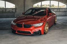 Sakhir Orange BMW M4 on Velos XX 1 pc Forged Wheels