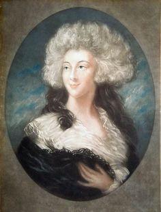 Georgiana Cavendish nee Spencer, Duchess of Devonshire , coloured ...