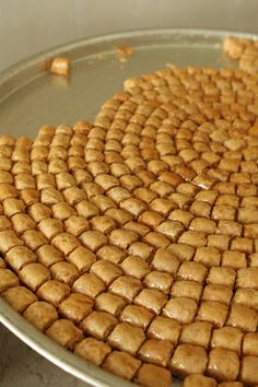 A look at Al Bohsali, Middle Eastern pastries such as bakalava, mamoul, knafeh in Beirut, Lebanon. Arabic Dessert, Arabic Sweets, Arabic Food, Middle East Food, Middle Eastern Desserts, Armenian Recipes, Turkish Recipes, Persian Recipes, Turkish Cookies