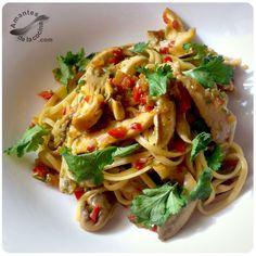 La receta de pasta con setas ostra que compartimos hoy es muy fácil, rápida y bien sabrosa.
