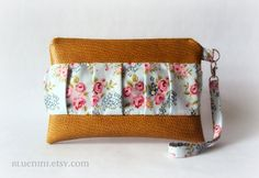 Gathered Clutch  Wristlet  Reader Case for Nook Kindle by BlueNini, $29.00