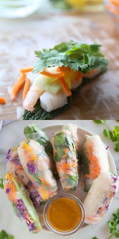 These Fresh Spring Rolls are even better than you'd find at a restaurant, and they're incredibly easy and healthy! Served with a delicious homemade peanut sauce, these rolls are perfect for a fresh and light lunch, dinner or appetizer.