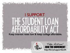 #2 - Yes, please! It's about time. But will it ever see the light of day? Senator Reed, Harkin, Reid and Murray introduce the Student Loan Affordability Act.
