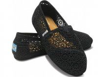 Toms Womens Crochet shoes Black