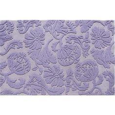 Kids' Rugs: Kids Lavender Raised Floral Wool Rug in All Rugs