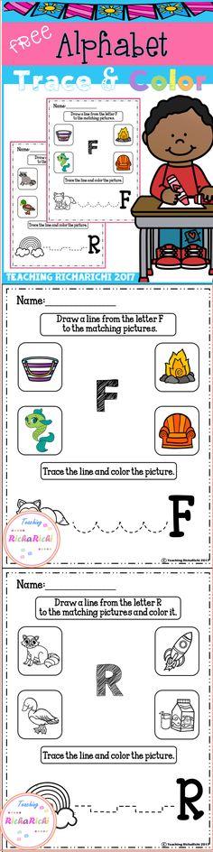 FREE Alphabet Trace And Color Set 5 Coronavirus Packet Distance Learning Kindergarten Freebies, Kindergarten Activities, Classroom Activities, Pre K Activities, Alphabet Activities, Alphabet Worksheets, Teacher Resources, Teacher Pay Teachers, Teaching Ideas