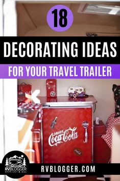 """Give your camper a personal touch to make it more """"you""""! Maybe you like the vintage look or a beach theme. Check out these awesome decorating ideas for your RV or travel trailer like painting the walls or peel and stick wallpaper and camping decals. #rvblogger #rvrenovation #rvremodel #rvdecorating #rvdecor #rvdiy #vintagerv #rvtips #usedrv Peel And Stick Tile, Stick On Tiles, Peel And Stick Wallpaper, Rv Decorating, Travel Trailer Camping, Rv Mods, Camping For Beginners, Trailer Decor, Used Rv"""