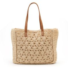 Croft & Barrow® Floral Crochet Straw Tote