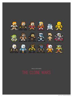 Mega Star Wars: The Clone Wars Art Print