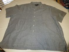 Ralph Lauren Mens 3XB Big  linen cotton short sleeve button up Shirt EUC @ #PolobyRalphLauren #ButtonFront