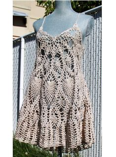 Crochet Layer Dress or Bathing suit Cover Up by EasyBreezyCoverUp