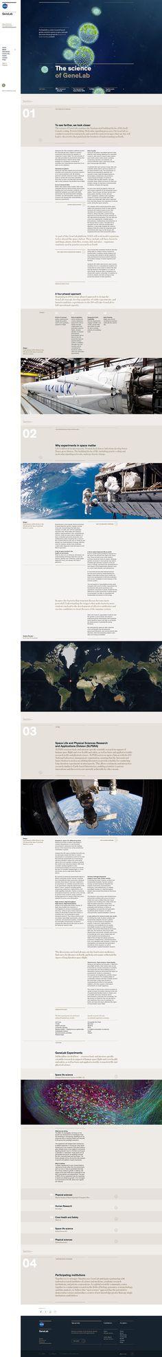 NASA GeneLab | Abduzeedo Design Inspiration
