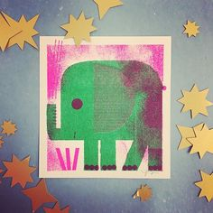 tiny elephant 🐘 is such a cute 🎁 for the kiddos! Little Gifts, Printmaking, Elephant, Illustration, Instagram Posts, Cute, Animals, Animales, Animaux