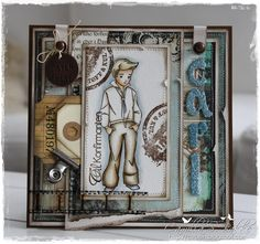 Cards by Camilla: A Whiff of Joy Distress Markers, Distress Ink, Confirmation Cards, Martha Stewart Punches, Matching Cards, Fathers Day Cards, Cute Images, Masculine Cards, Pattern Paper