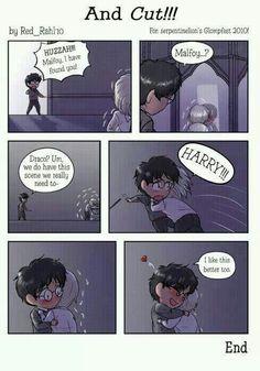 Haha too super cute. Draco Harry Drarry