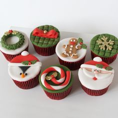 I want these xmas cupcakes!