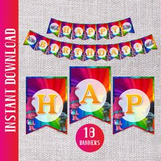 TROLLS birthday party banners Make their birthday special with ...