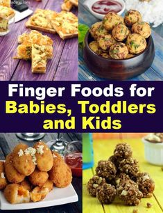Finger Foods for Babies, Toddlers and Kids, Tarla Dalal - Best finger food list Finger Foods For Kids, Baby Finger Foods, Healthy Meals For Kids, Kids Meals, Baby Food Recipes, Indian Food Recipes, Gourmet Recipes, Cooking Recipes, Healthy Recipes