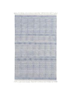 "$237 5 x 7.6"" Area Rug - Bayside Stripe Rug, Blue"