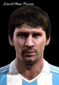 Lionel Messi face for Pro Evolution Soccer 2012