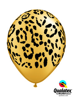 This leopard print is trendy - create a safari decor or combine it with feminine colors for a girls party! #qualatex #balloon #leopard