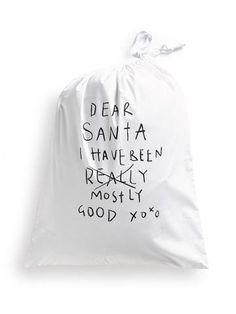 Henry & Co | Dear Santa Drawstring Santa Sack | Collected by LeeAnn Yare