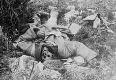 A Russian corpse left to the elements in the Carpathian Mountains.  World War I Timeline - 1917 - Horrors of War