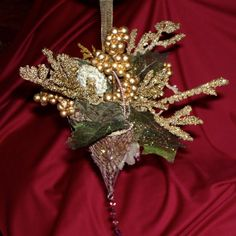 Victorian Metal Hanging Basket Ornament by DollmakerNic on Etsy, $16.00