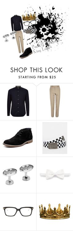 """""""Punk/Emo/Goth King Look"""" by adelle-louise-istead on Polyvore featuring Burberry, River Island, Hush Puppies, Vans, Cufflinks, Inc., Brioni, Thom Browne, Seletti, men's fashion and menswear"""