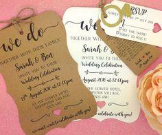 Wedding Invitation Shabby chic invitation Rustic by GREENFOXYtags