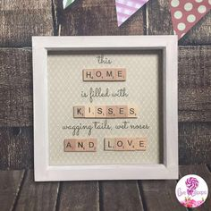 Scrabble tile home frame by LoveAndLollipops1 on Etsy