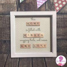 Scrabble tile home frame