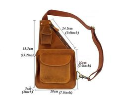 Sling bags for men chest pack leather sling bags