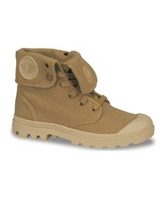 Take a look at this Mustard & Putty Baggy Canvas Boot by Palladium on #zulily today!
