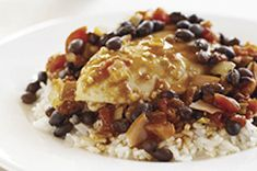Southwestern Chicken with Black Beans and Rice recipe