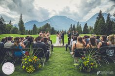 Outdoor wedding ceremony: The beauty of this mountain backdrop at the Squamish Valley Golf Club is truly incomparable. Photo by Everyday Life Photography, as seen on BRIDE. Golf Wedding, Summer Wedding, Wedding Reception, Wedding Venues, Wedding Ideas, Indoor Ceremony, Marrying My Best Friend, Wedding Locations, Life Photography