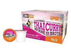 LonoLife Thai Curry Beef Bone Broth 10g Protein -10 Count Paleo Snack For Your Keurig Style Brewer ... >>> Visit the image link more details.