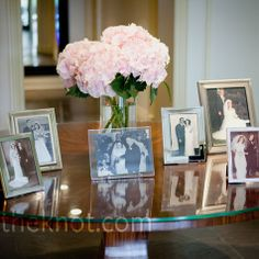 Idea that I have; instead of it being wedding decor. Get a photo (if possible) of each relative who's married on their wedding day and place it in on the tables with the table numbers. So when your guests sit down, a part of your family is everywhere :)