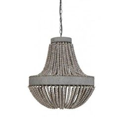 Large Beaded Vintage Style Pendant Light | The Farthing
