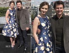Emily Blunt In Oscar de la Renta – 'Edge of Tomorrow' London Photocall