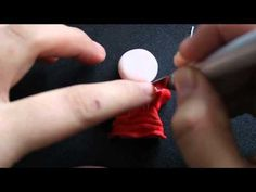 Como hago ... FIMO : Broche muñequita Flamenca - YouTube