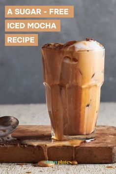 It's dark and chocolately, just sweet enough, and completely dairy and sugar-free thanks to my secret weapon: liquid stevia. #icedmocha #sugarfreedrink #sugarfreerecipe #dairyfree #dairyfreerecipe #healthybeverage #healthydessert #healthydrink #cleanplates Sugar Free Drinks, Low Sugar Desserts, Sugar Free Recipes, Healthy Desserts, Healthy Drinks, Iced Mocha Recipe, Clean Plates, Cocoa Cinnamon, Quick Snacks