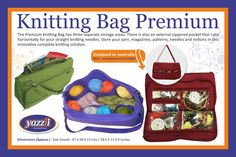 Yazzii offers great cosmetic bags and jewelry organisers including jewellery storage, craft storage and craft organisers Craft Organization, Craft Storage, Cosmetic Storage, Craft Accessories, Storage Area, Knitted Bags, Jewellery Storage, Knitting Needles, Quilting Projects